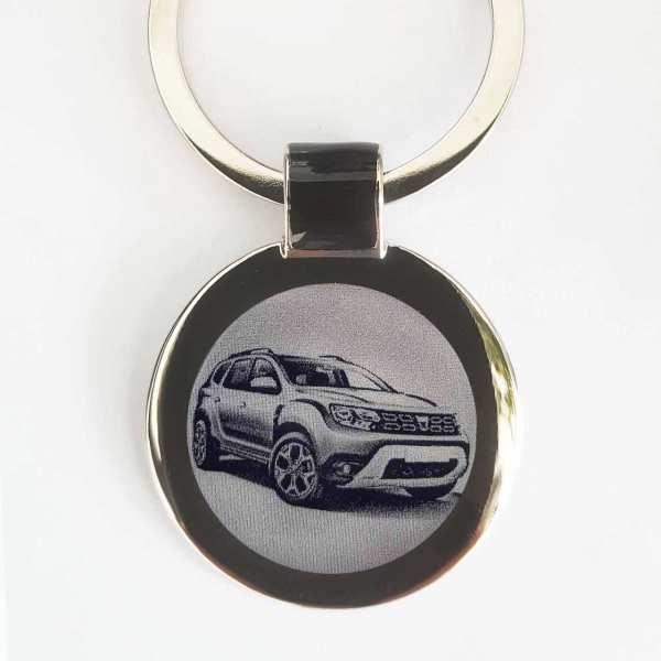 Dacia Duster Modell 2018 Schlüsselanhänger personalisiert - original Fotogravur