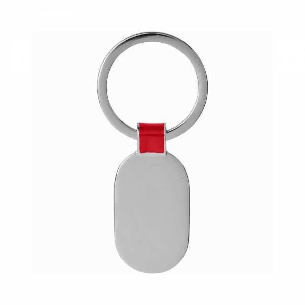 Schlüsselanhänger personalisiert mit Foto und Gravur Metall rot