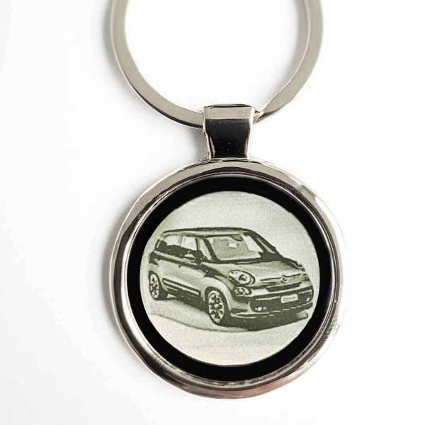 Fiat 500L Modell 2012 Schlüsselanhänger personalisiert - original Fotogravur