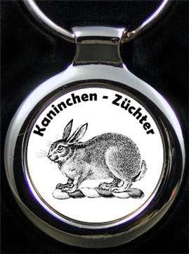 Kaninchenzüchter Schlüsselanhänger mit Text