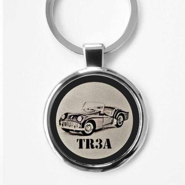 Triumph TR3A Gravur Schlüsselanhänger personalisiert - original Fotogravur