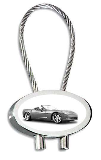 Corvette Cabrio Schlüsselanhänger personalisiert
