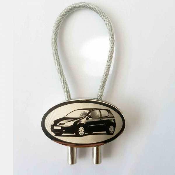 Golf V Gravur Schlüsselanhänger personalisiert - original Fotogravur