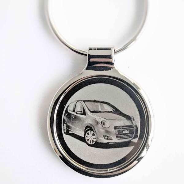 Suzuki Alto Gravur Schlüsselanhänger personalisiert - original Fotogravur