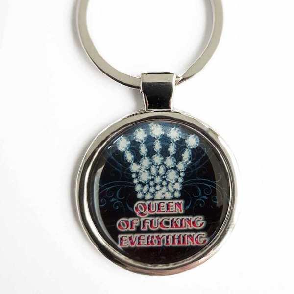 Schlüsselanhänger personalisiert Queen of fucking everything
