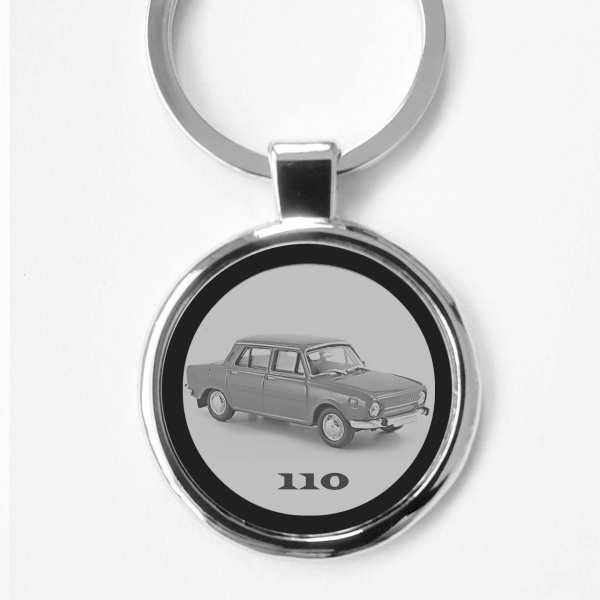 Skoda 110 Gravur Schlüsselanhänger personalisiert