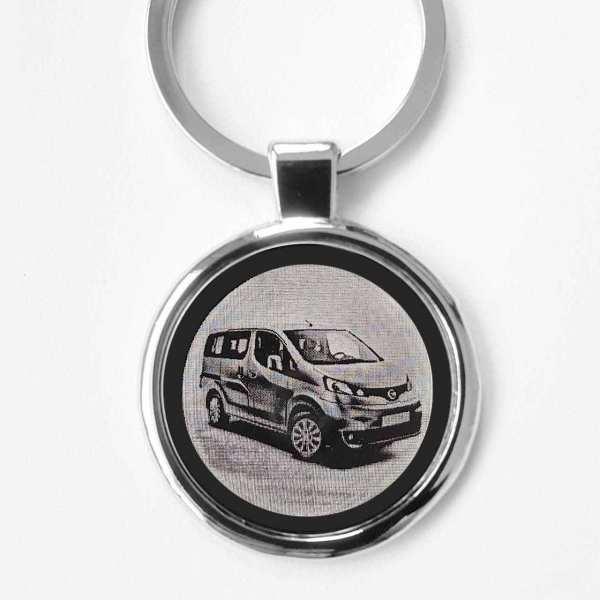 Nissan Evalia ab 2019 Gravur Schlüsselanhänger personalisiert - original Fotogravur