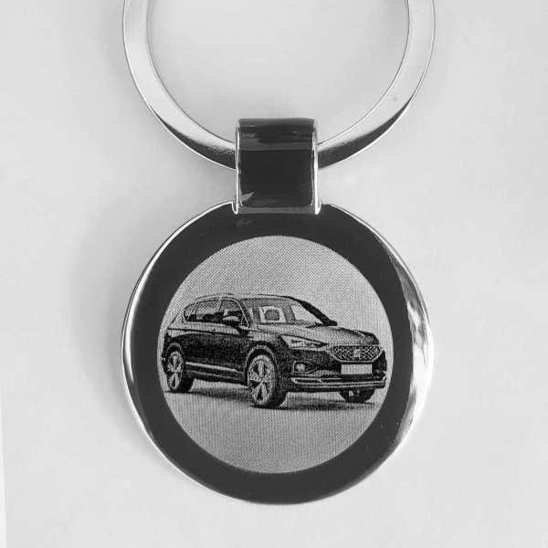 SEAT Tarraco Modell 2019 Gravur Schlüsselanhänger personalisiert - original Fotogravur