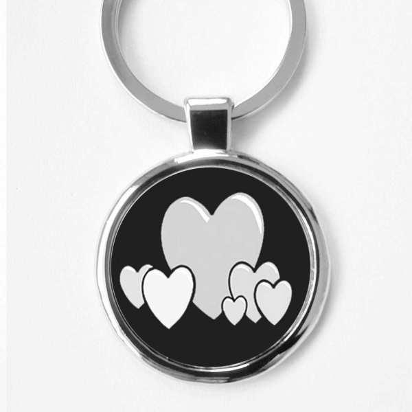 Liebes Herzen ♥ Gravur Schlüsselanhänger personalisiert