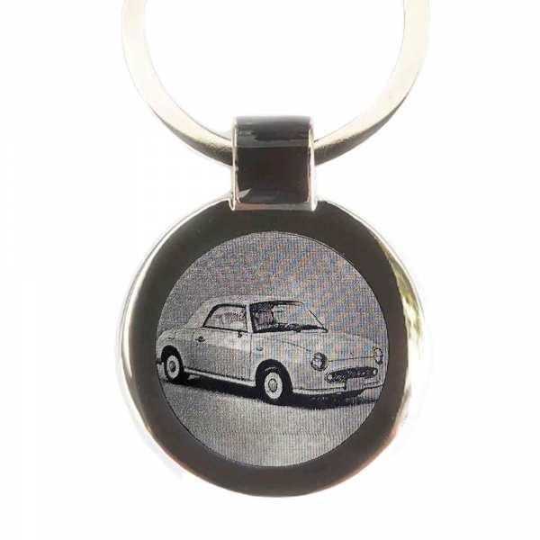 Nissan Figaro Gravur Schlüsselanhänger - original Fotogravur