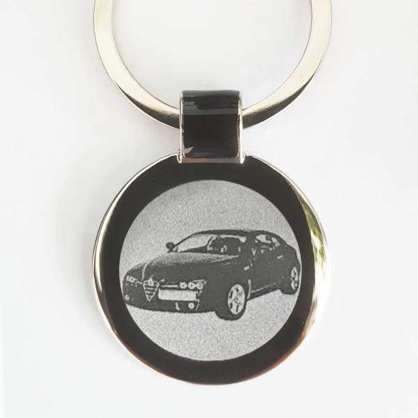 Alfa Romeo Brera Gravur Schlüsselanhänger personalisiert - original Fotogravur