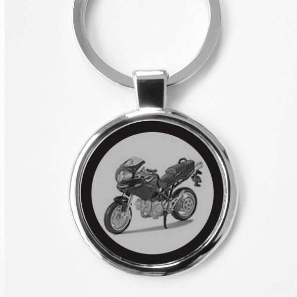 Ducati Multistrada 1000S Gravur Schlüsselanhänger - personalisiert