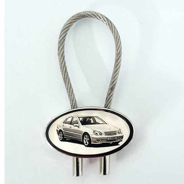 Mercedes C220 Gravur Schlüsselanhänger personalisiert - original Fotogravur