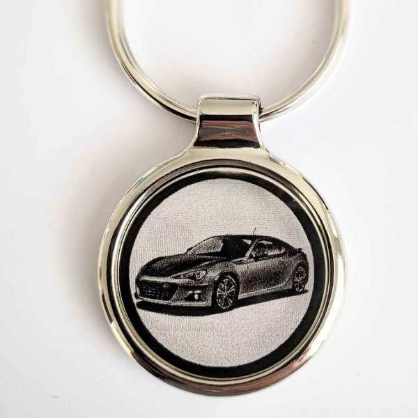 Subaru BRZ Schlüsselanhänger personalisiert - original Fotogravur