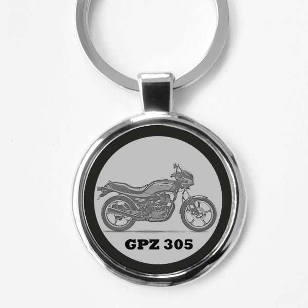 Kawasaki GPZ305 Schlüsselanhänger personalisiert
