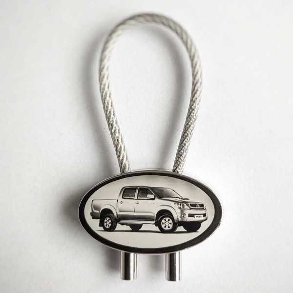 Toyota Hilux Double Gravur Schlüsselanhänger - original Fotogravur