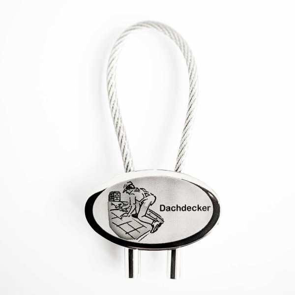 Dachdecker Gravur Schlüsselanhänger - original Fotogravur