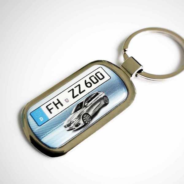 Fiat Tipo 5-Türer Kennzeichen Schlüsselanhänger personalisiert mit persönlicher Gravur