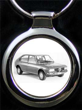 Alfasud Auto Schlüsselanhänger mit Gravur