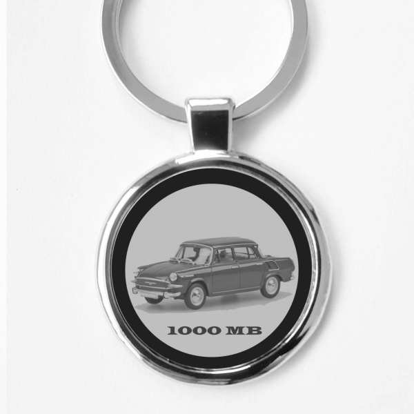 Skoda 1000MB Gravur Schlüsselanhänger personalisiert