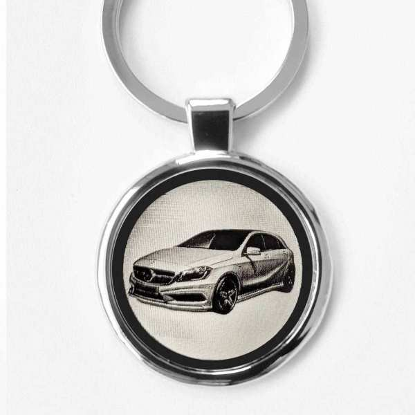 Mercedes A Klasse Schlüsselanhänger personalisiert - original Fotogravur