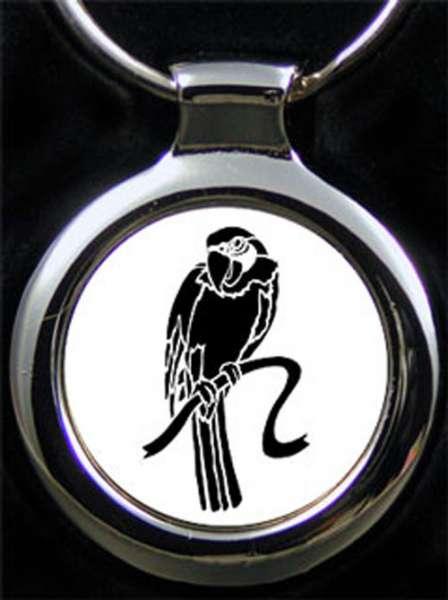 Papagei Vogel Gravur Schlüsselanhänger