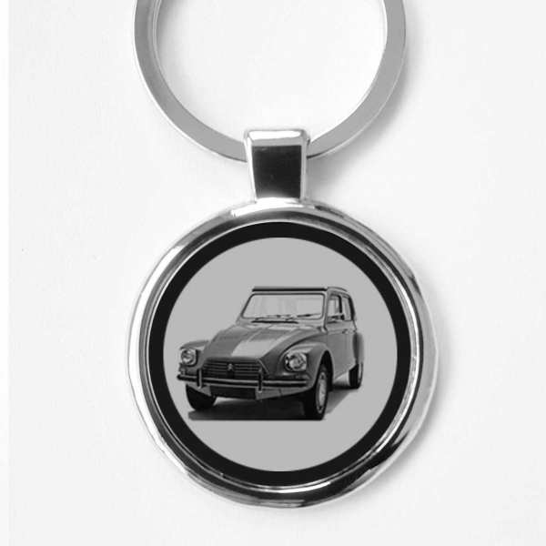 Citroen Dyane Gravur Schlüsselanhänger personalisiert