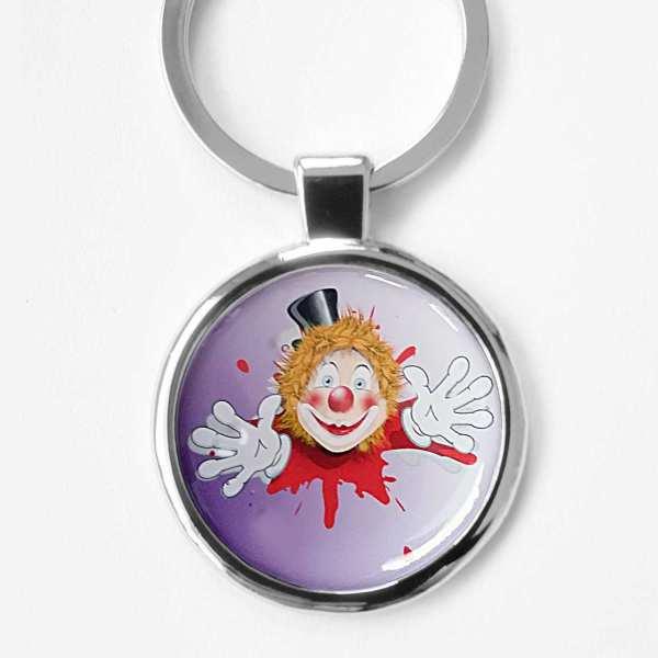 Clown Fotoschlüsselanhänger personalisiert mit Gravur
