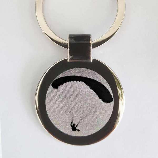 Gleitschirmflieger Schlüsselanhänger personalisiert - original Fotogravur