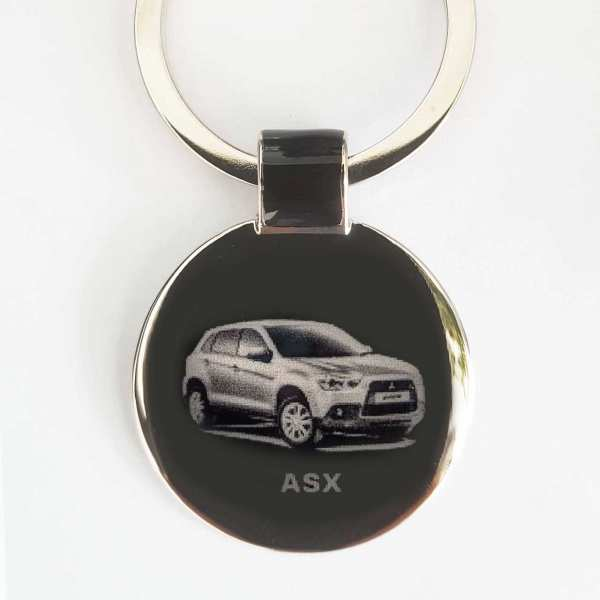Mitsubishi ASX Schlüsselanhänger personalisiert original Fotogravur