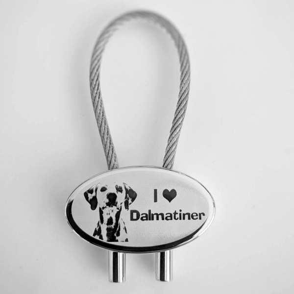 Dalmatiner Schlüsselanhänger personalisiert - original Fotogravur