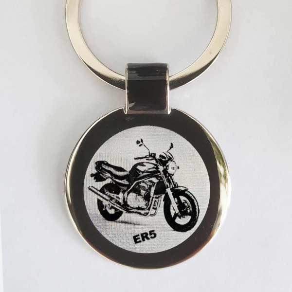 Kawasaki ER5 Schlüsselanhänger personalisiert - original Fotogravur
