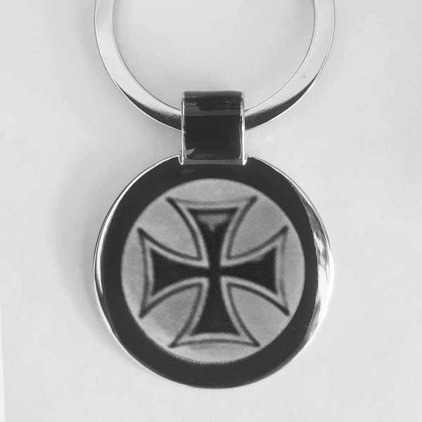 Eisernes Kreuz Schlüsselanhänger personalisiert - original Fotogravur