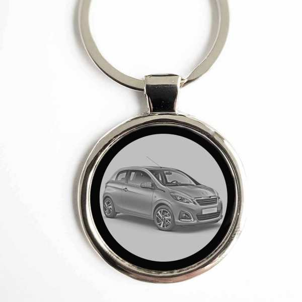 Peugeot 108 Gravur Schlüsselanhänger personalisiert