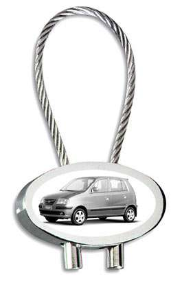 Hyundai Atos Auto Schlüsselanhänger mit Namensgravur