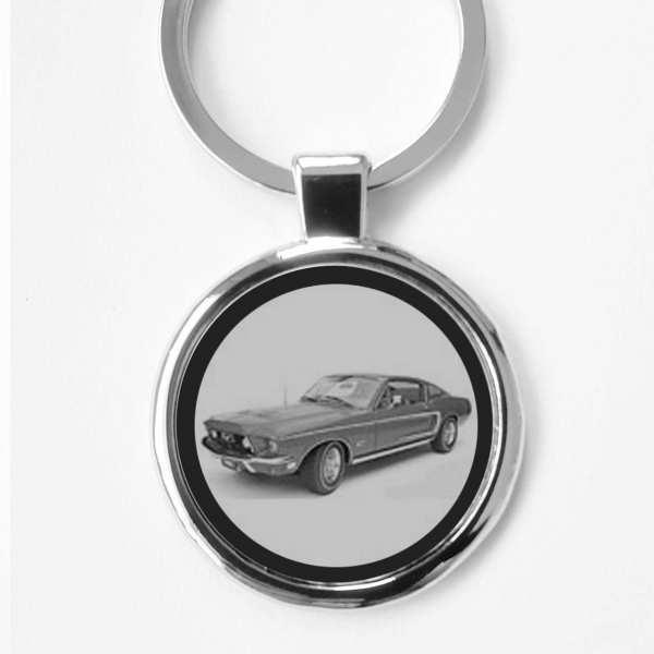 Ford Mustang GT390 Schlüsselanhänger personalisiert