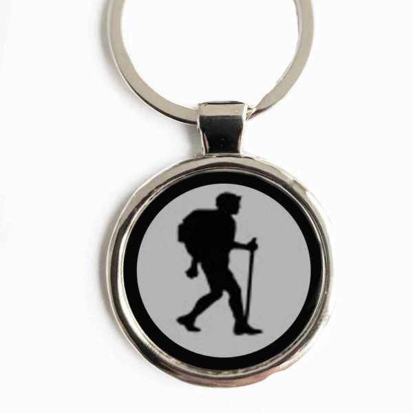 Wandern Silhouette Gravur Schlüsselanhänger personalisiert