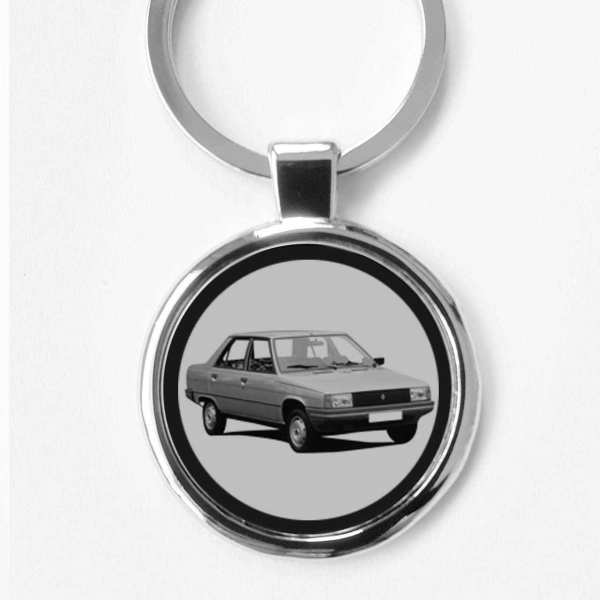 Renault 9 Auto Schlüsselanhänger mit Gravur