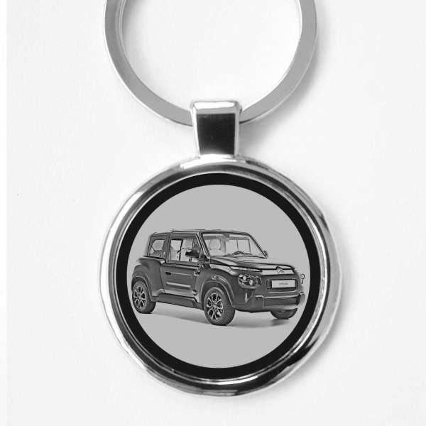 Citroen E Mehari Schlüsselanhänger personalisiert