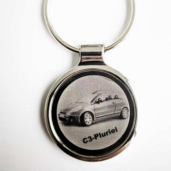 Citroen C3 Pluriel Gravur Schlüsselanhänger personalisiert - original Fotogravur