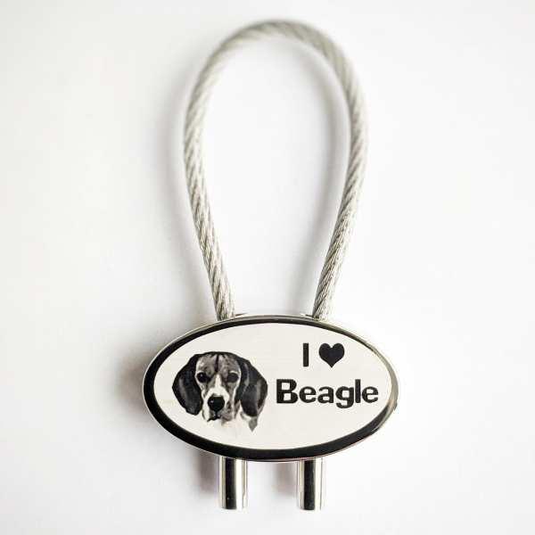 I Love Beagle Hundeliebhaber Gravur Schlüsselanhänger personalisiert - original Fotogravur
