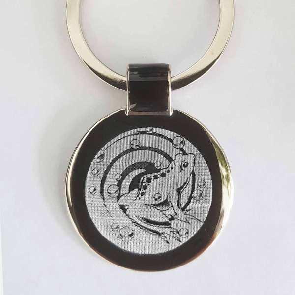 Frosch Gravur Schlüsselanhänger - original Fotogravur