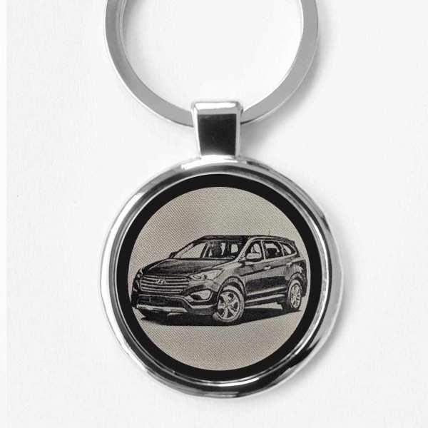 Hyundai Santa Fe 2016 Gravur Schlüsselanhänger - original Fotogravur