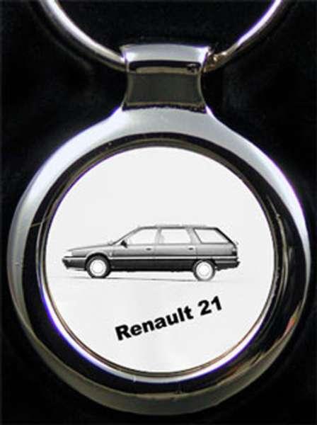 Renault 21 Auto Schlüsselanhänger personalisiert