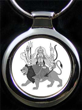 Durga Schlüsselanhänger mit Gravur