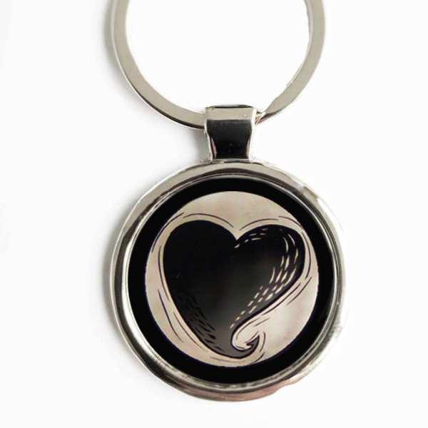 Herz ♥ Gravur Schlüsselanhänger personalisiert