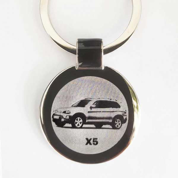 BMW X5 Gravur Schlüsselanhänger mit persönlicher Gravur - personalisiert