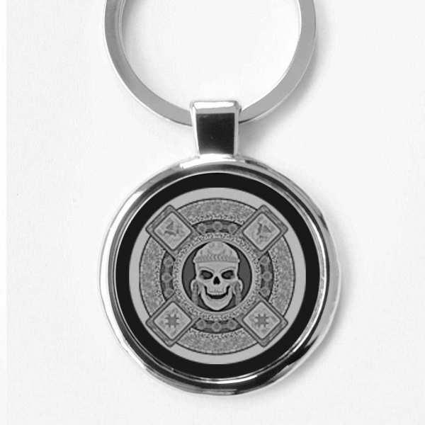 Aztekischer Gott des Todes Talisman Schlüsselanhänger personalisiert