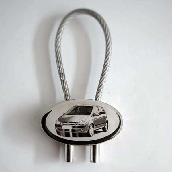 Hyundai Getz Gravur Schlüsselanhänger personalisiert - original Fotogravur