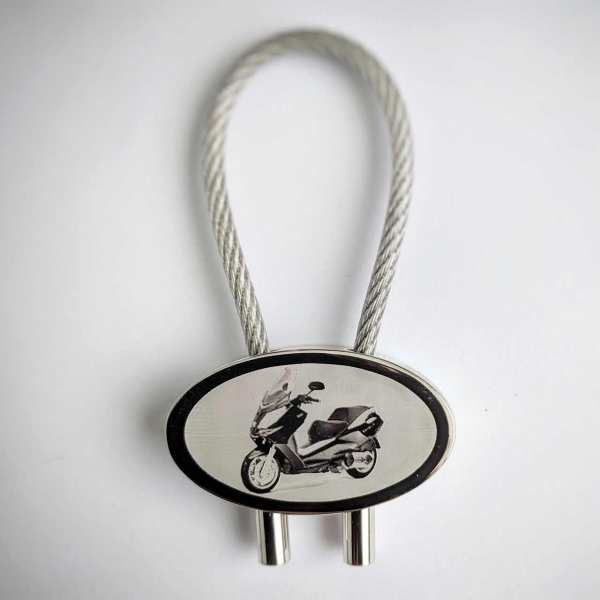 Peugeot Satelis Schlüsselanhänger personalisiert als Fotograur mit Gravur
